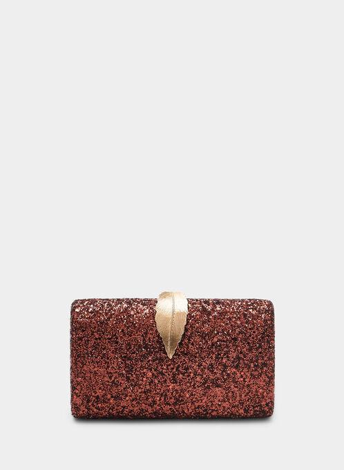 Glitter Box Clutch, Brown