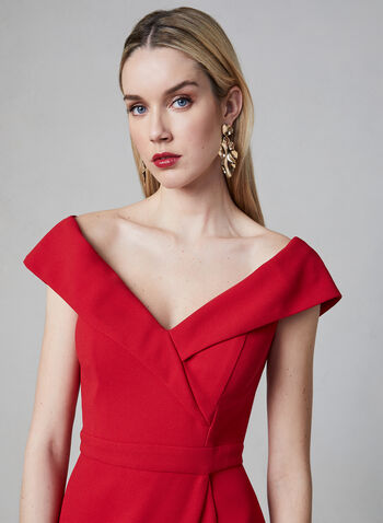 BA Nites - Sweetheart Neckline Midi Dress, Red, hi-res