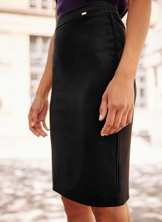 Jupe crayon longueur genoux, Noir