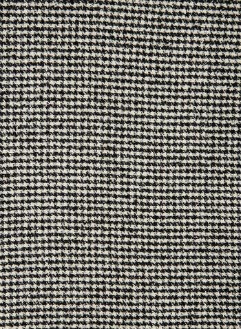 Houndstooth Print Scarf, Black, hi-res,  monochrome, houndstooth, print, scarf, knit, oblong, blanket, fall 2019, winter 2019