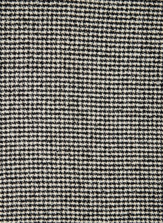 Écharpe motif pied-de-poule, Noir
