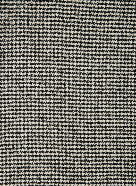 Houndstooth Print Scarf, Black
