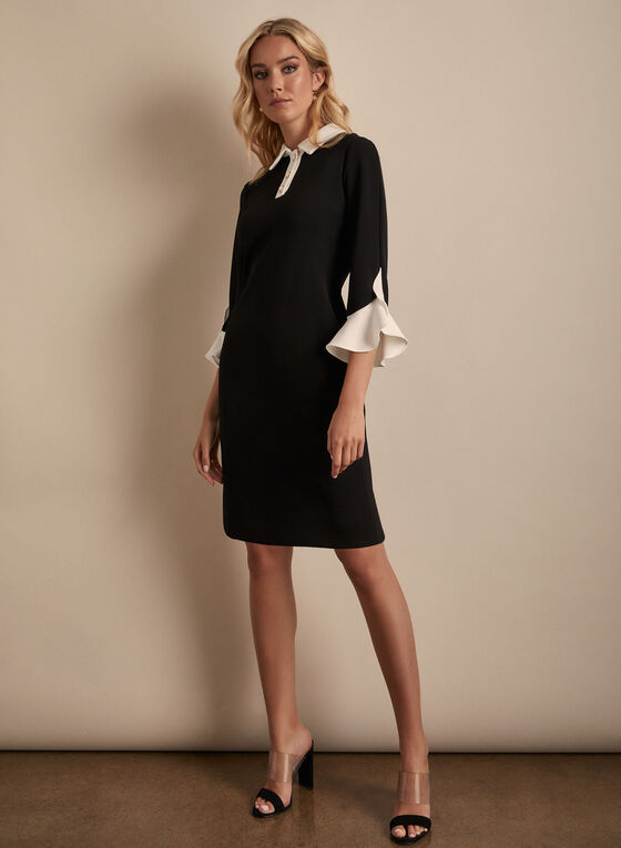 Karl Lagerfeld Paris - Elbow Sleeve Dress, Black