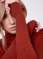 Long Sleeve Turtleneck Sweater, Orange, hi-res