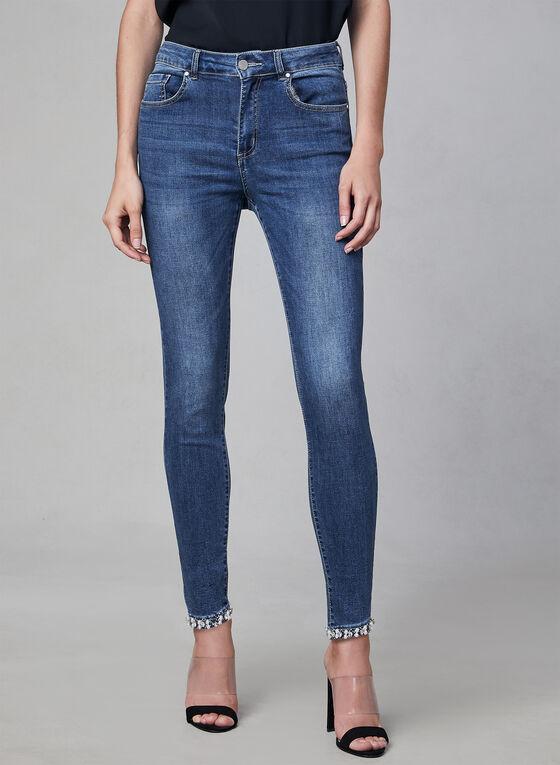 Frank Lyman - Pearl Detail Jeans, Blue