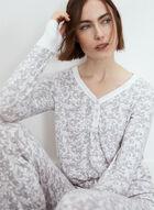 Paisley Print Pyjama Set, Grey