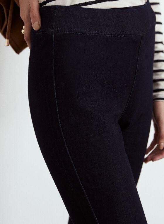 Yoga Jeans - Jean à jambe étroite en denim extensible, Bleu