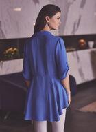 Joseph Ribkoff - Tunique superposée à ourlet, Bleu