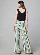 Emma & Michele - Stripe Print Jumpsuit, Black, hi-res
