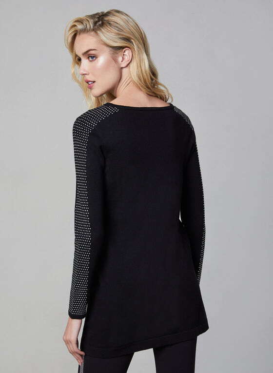 Stud Detail Sweater, Black