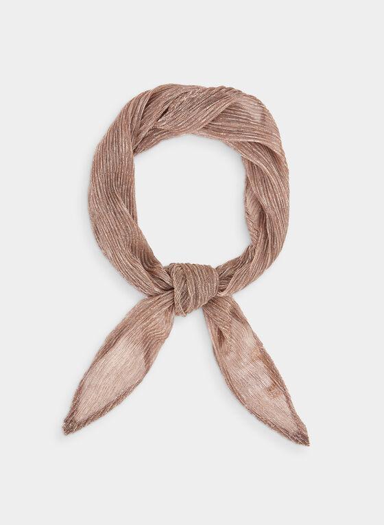 Foulard plissé à effet métallisé, Rose