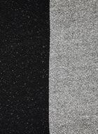 Foulard deux tons à pompons, Noir