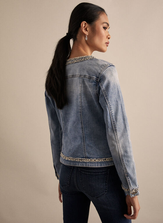 Buttoned Denim Jacket, Blue