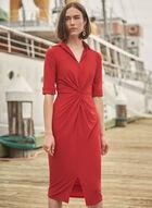 Joseph Ribkoff - Twist Detail Shirt Dress, Red