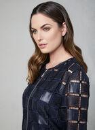Frank Lyman - Crochet Faux Leather Jacket, Blue, hi-res