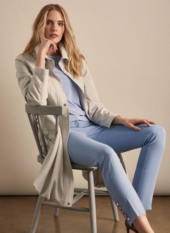 Novelti - Cinched Hemline Belted Trenchcoat, Grey
