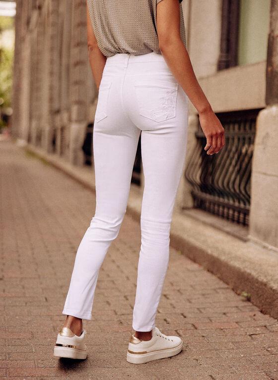 Jeans à jambe étroite  , Blanc