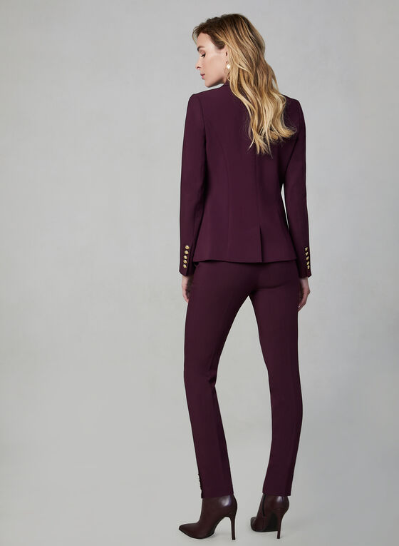 One Button Blazer, Purple