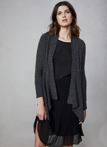 Open Front Cardigan, Black,  Canada, cardigan, long sleeves, open front, fall 2019, winter 2019