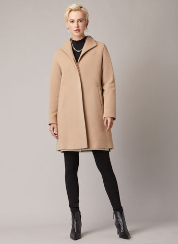 Mallia - Wool Blend Coat, Brown,  Mallia, coat, wool, cashmere, fall 2019, winter 2019