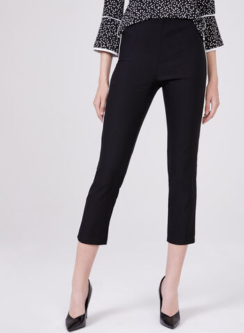 Pull On Capri Pants, Black, hi-res