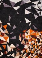 Mosaic Print Scarf, Brown