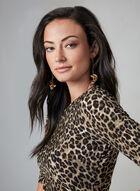 Vince Camuto - Leopard Print Dress, Brown