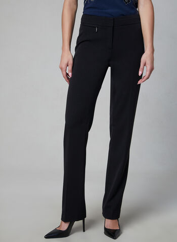 Lauren Fit Straight Leg Pants, Black, hi-res