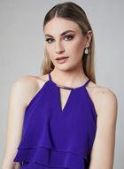 Kensie - Halter Neck Asymmetric Dress, Blue, hi-res
