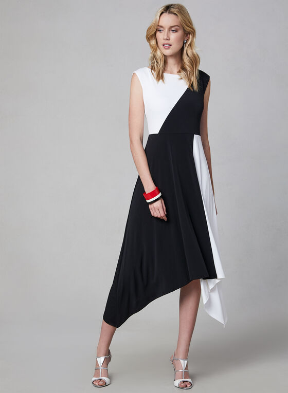 Maggy London - Asymmetrical Dress, Black, hi-res