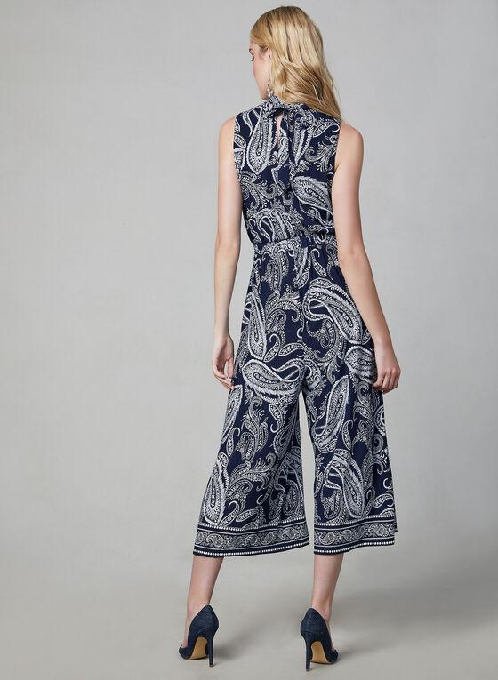 Sandra Darren - Paisley Print Jumpsuit, Blue