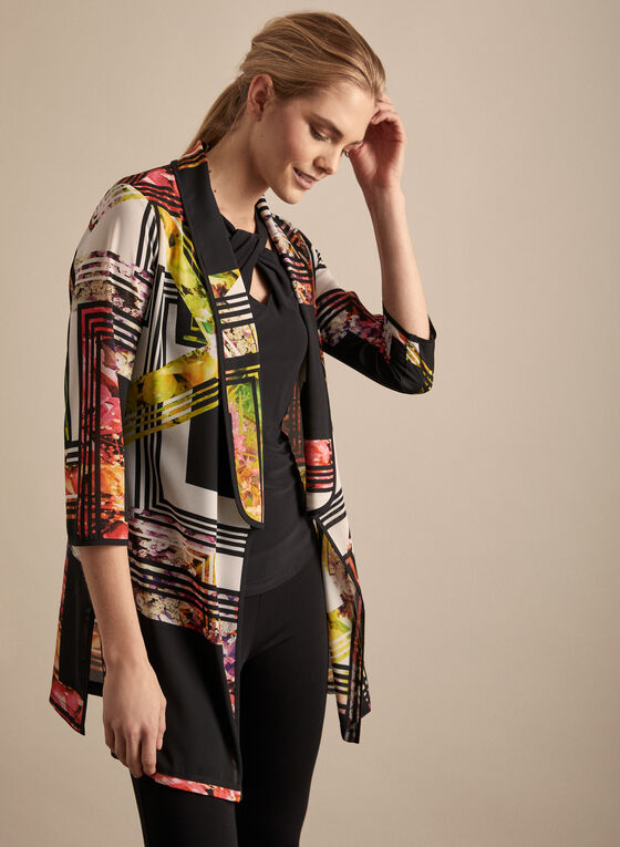 Frank Lyman - Printed Duster, Black
