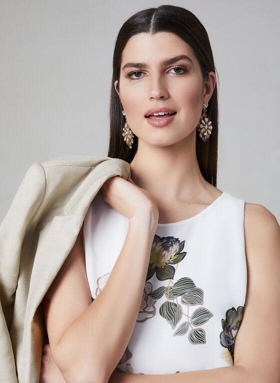 Blouse florale sans manches, Blanc, hi-res