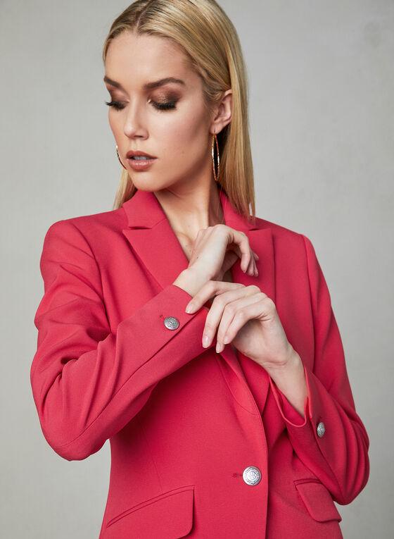 One Button Blazer, Pink, hi-res