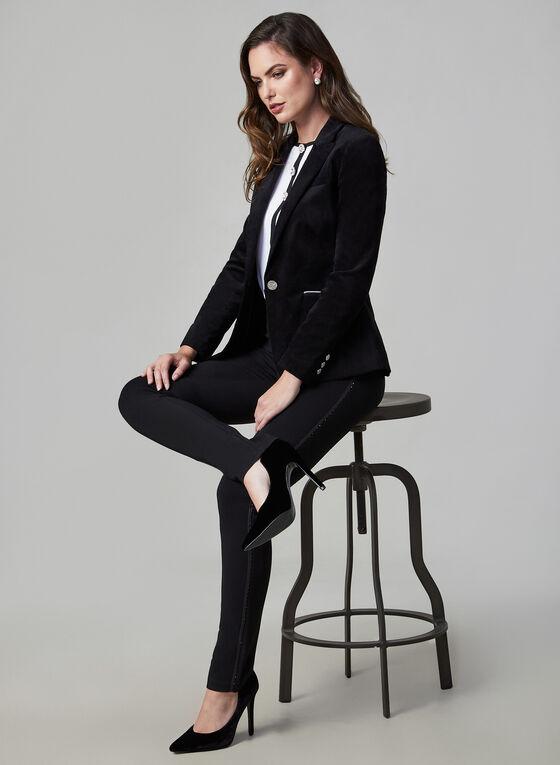 Velvet Blazer, Black, hi-res