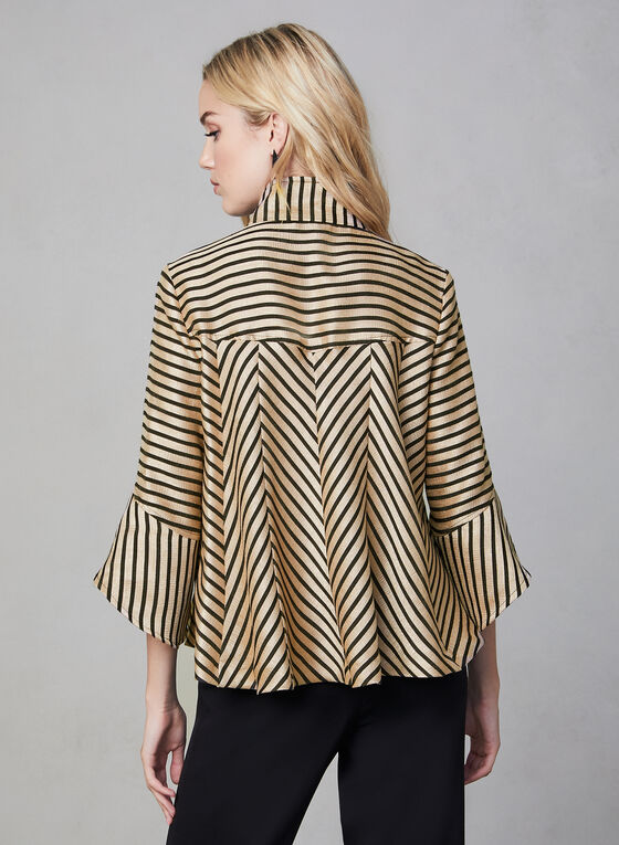 Joseph Ribkoff - Stripe Print Jacket, Black