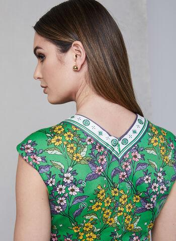 Maggy London - Robe ajustée à motif floral, Vert, hi-res