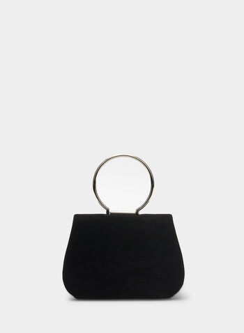 Faux Suede Clutch, Black,  clutch, faux suede, faux suede clutch, holiday, fall 2019, winter 2019