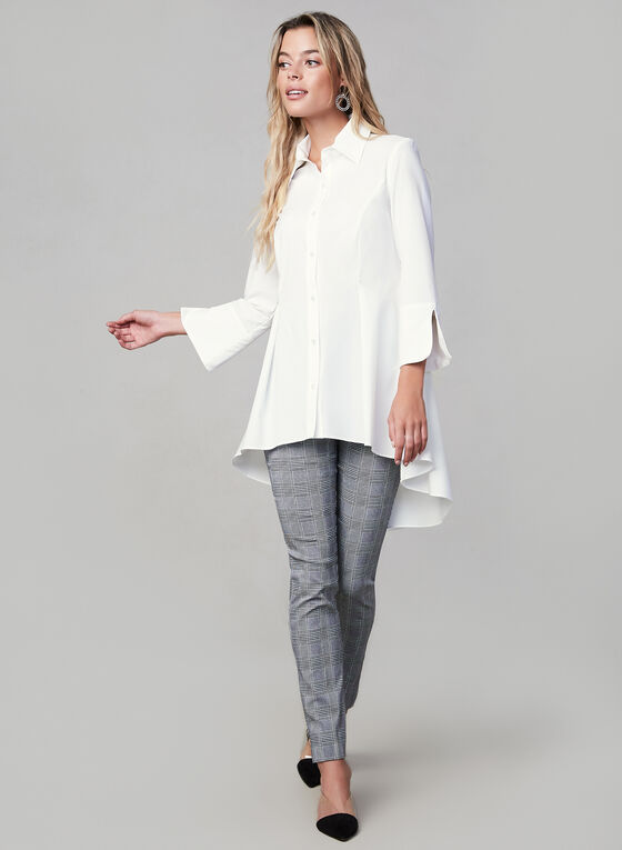 Joseph Ribkoff - Peplum Hem Button Down, White