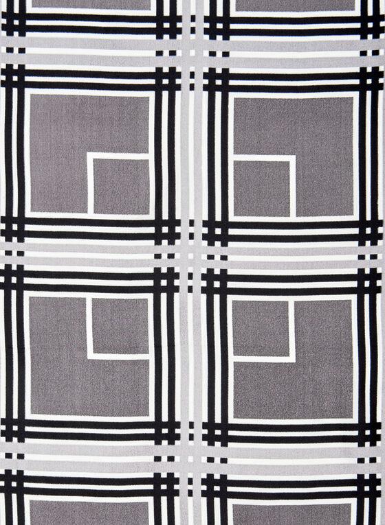 Abstract Print Silk Scarf, Grey, hi-res