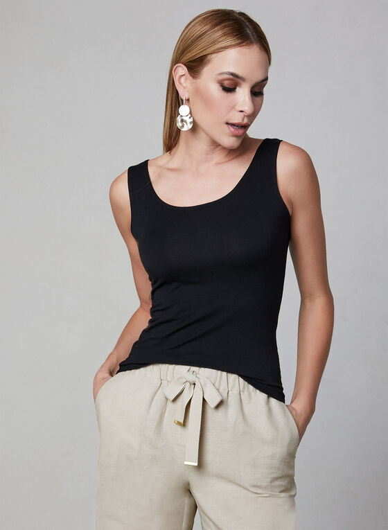 Alison Sheri - Sleeveless Top, Black, hi-res