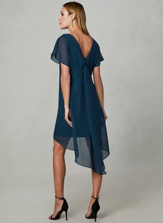 Adrianna Papell - Capelet Back Dress, Blue