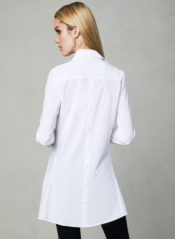 Joseph Ribkoff - Button Up Blouse, White, hi-res
