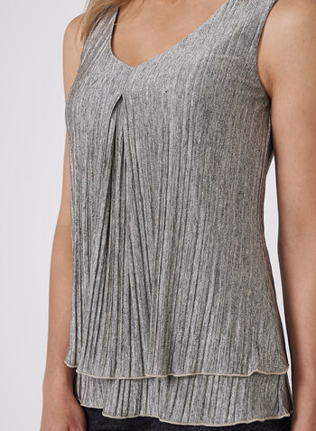 Frank Lyman - Metallic Pleated Blouse, , hi-res