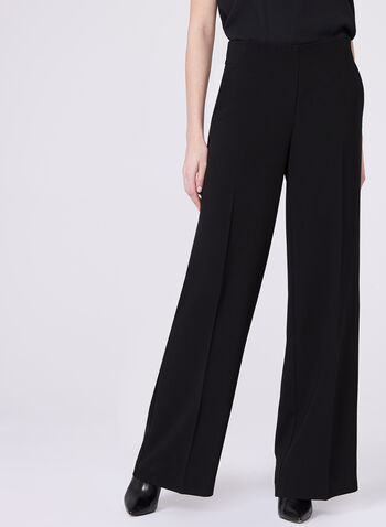 Soho Slimming Fit Wide Leg Pants, Black, hi-res