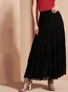Tiered Maxi Peasant Skirt, Black, hi-res