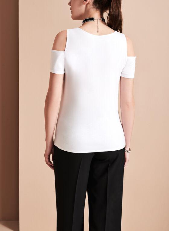 T-shirt à épaules dénudées, Blanc, hi-res