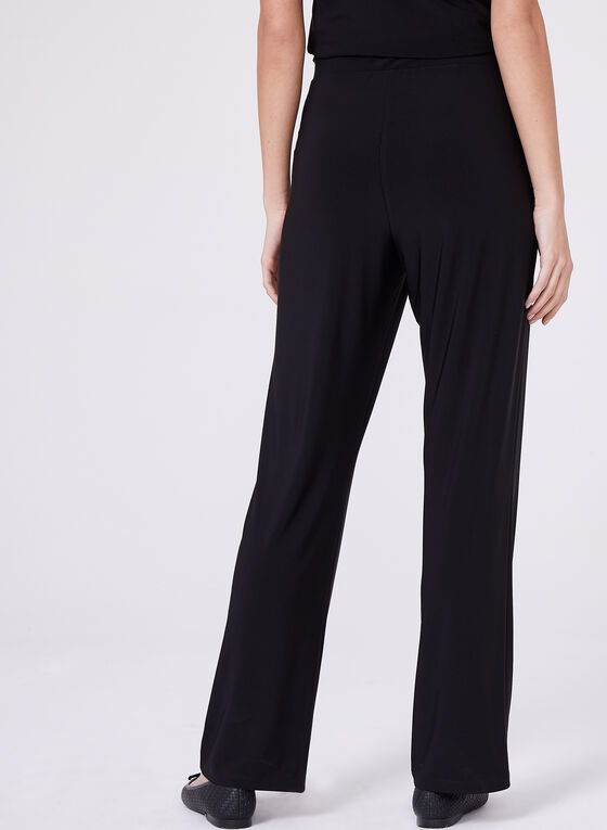 Compli K - Pull-On Wide Leg Pants , Black, hi-res