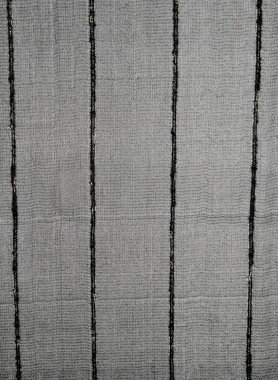 Metallic Silk Scarf, Black
