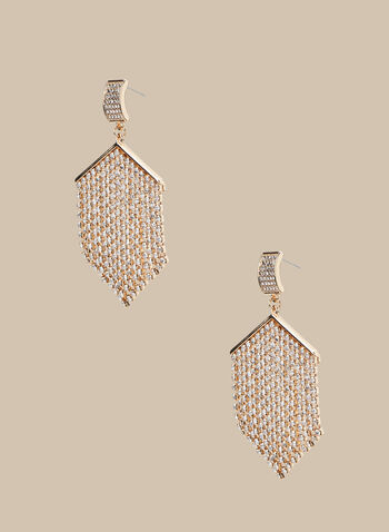 Crystal Cascade Earrings, Silver,  earrings, crystal, crystal earrings, dangle earrings, spring 2020, summer 2020